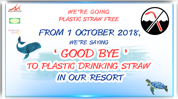 Join us in making the environment better one day at a time by not using plastic straw. No Plastic No straw please