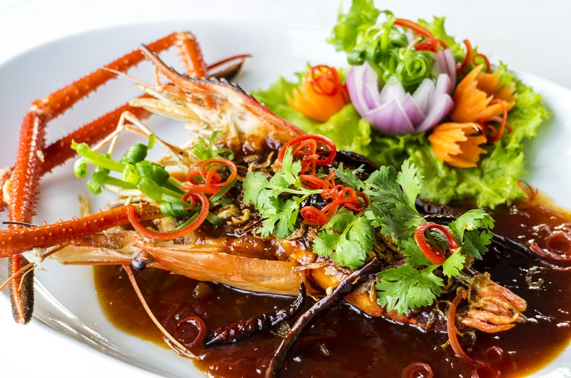 river prawn with tamarid sauce