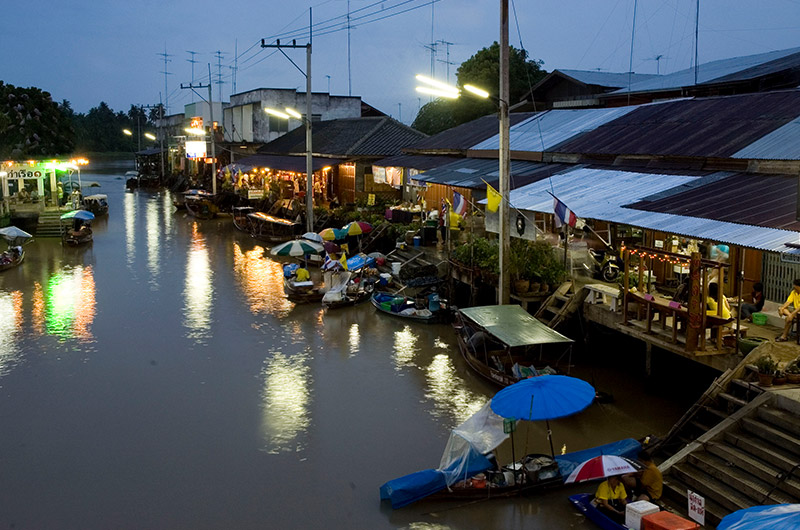 The Charming Amphawa Floating Market
